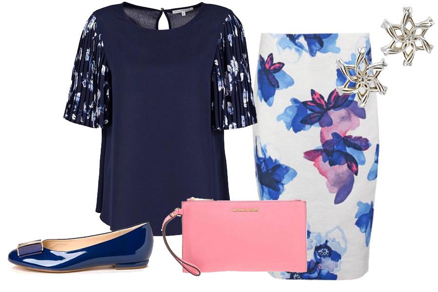 Spódnica i elegancka bluzka