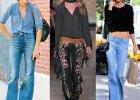 Modny fason: dżinsy i spodnie dzwony