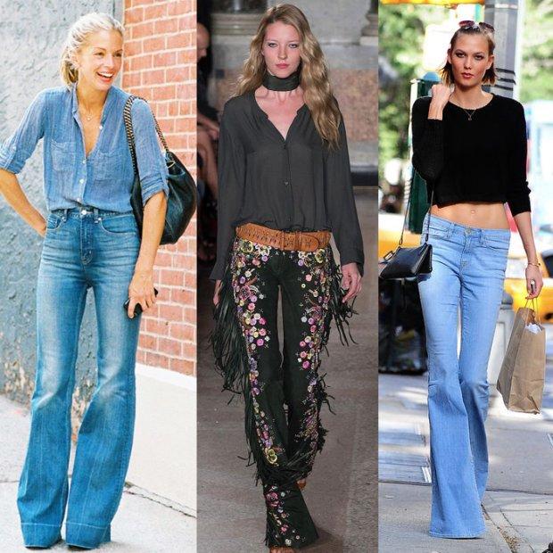 Modny fason: d�insy i spodnie dzwony
