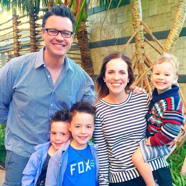 Rachel mężem i trójką dzieci