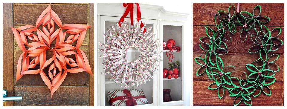 Świąteczne dekoracje z papieru