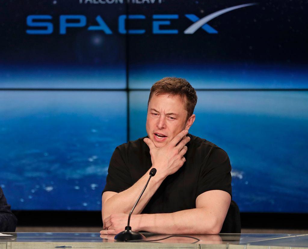 Elon Musk, szef i założyciel firm Tesla i SpaceX
