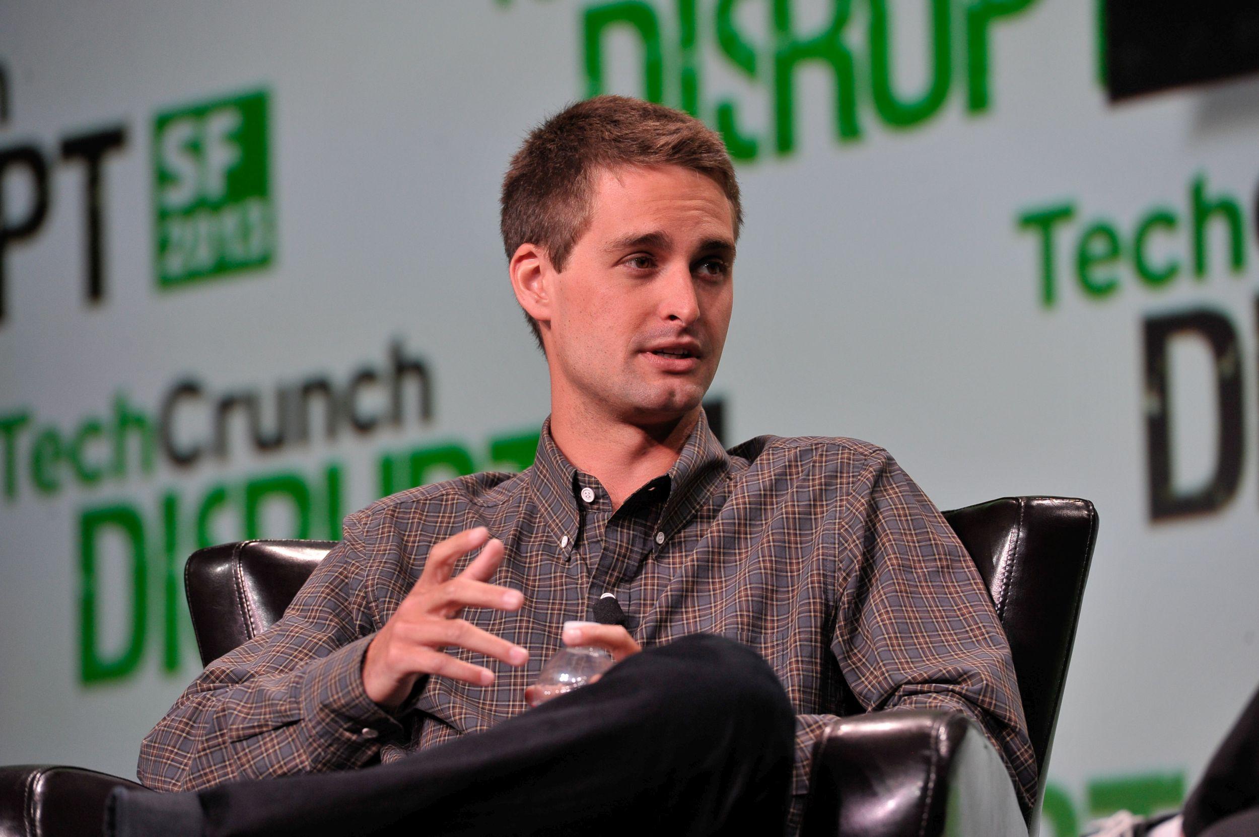 Evan Spiegel, twórca Snapchata (fot. TechCrunch / Steve Jennings / bit.ly/1IKSroU / CC BY / bit.ly/1mhaR6e)