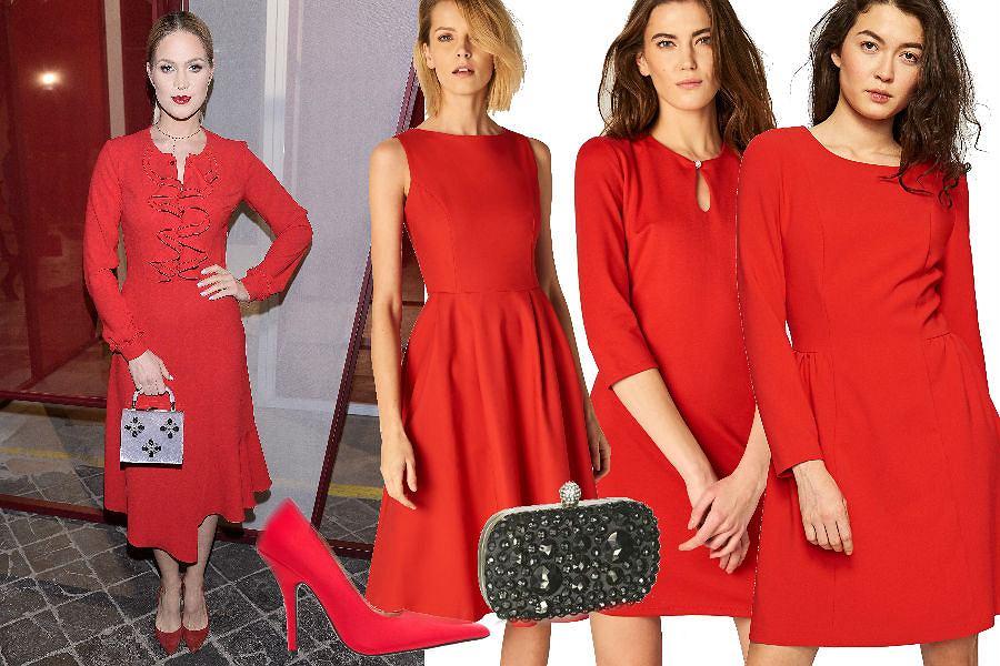 czerwone sukienki do 200 złotych