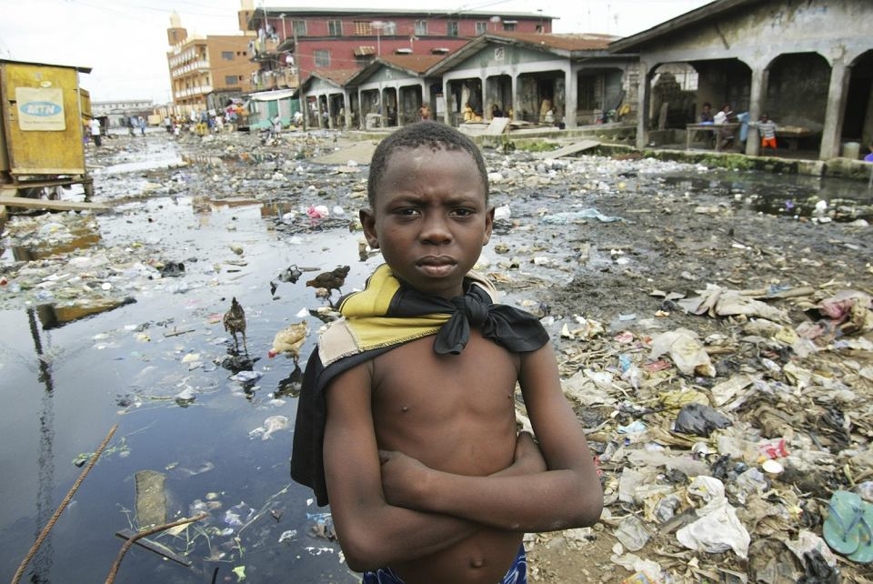 Slumsy w Lagos, stolicy Nigerii