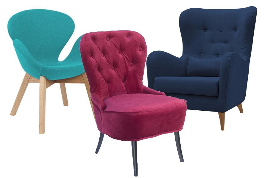 Kolorowe fotele - odważny dodatek