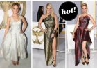 """Jennifer Lawrence i Julianne Moore w pi�knych sukniach Diora, Elizabeth Banks w seksownej kreacji marki Leonard, a Jessica Simpson sk�pana w z�ocie. Zobaczcie gwiazdy na premierze """"Igrzysk Smierci"""" w Los Angeles!"""