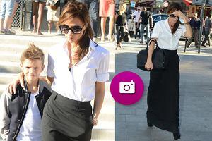 Stylowa Victoria Beckham z synem w Pary�u - zobacz zdj�cia!