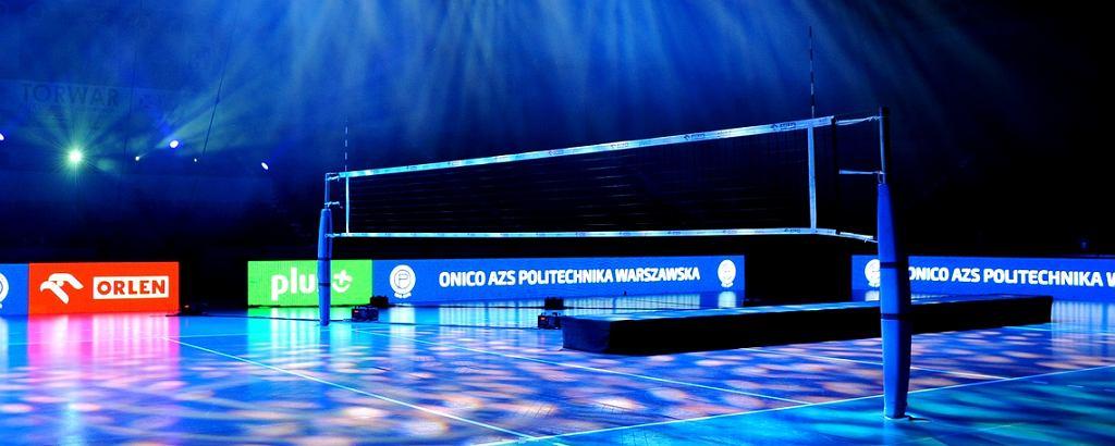Oprawa podczas meczu ONICO AZS Politechniki Warszawskiej