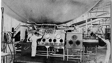 Fort Detrick w stanie Maryland, amerykański ośrodek badań nad bronią biologiczną, około 1940 r.
