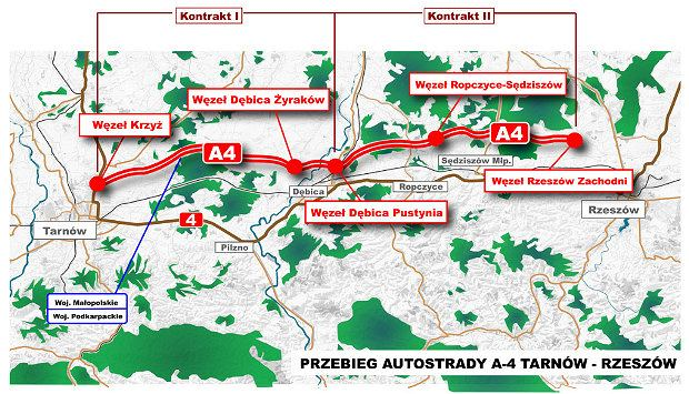 Autostrada A4 na Podkarpaciu