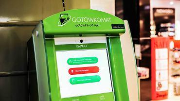 Automat umożliwiający składanie wniosków o chwilówki w centrum handlowym Bonarka