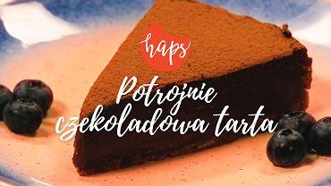 Potrójnie czekoladowa tarta
