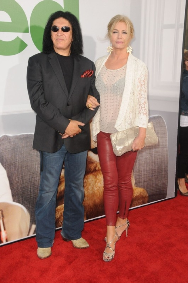 Gene Simmons, Shannon Tweed at arrivals for TED Premiere, Grauman's Chinese Theatre, Los Angeles, CA June 21, 2012. Photo By: Dee Cercone/Everett Collection