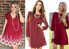 Karmazynowa sukienka w trzech stylizacjach. Zainspiruj się!