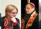 Marcin Przecieszewski, szef KAI; Agnieszka Koz�owska-Rajewicz, pe�nomocniczka ds. r�wnego traktowania; biskup Grzegorz Ry�; Halina Bortnowska
