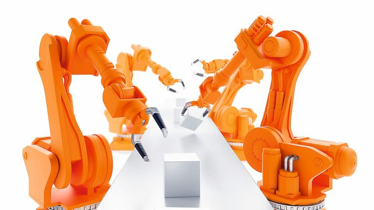 Roboty na linii produkcyjnej