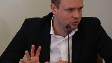 Michał Tusk podczas przesłuchania przed komisja śledczą ds. zbadania afery Amber Gold