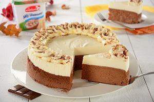 Sernik czekoladowo-śmietankowy   z twarożku kanapkowo-sernikowego Mój Ulubiony