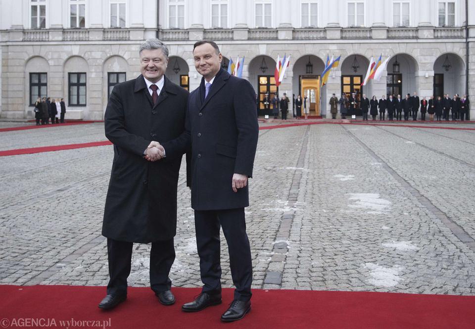 Polska-Ukraina. Petro Poroszenko w Warszawie z prezydentem Dudą