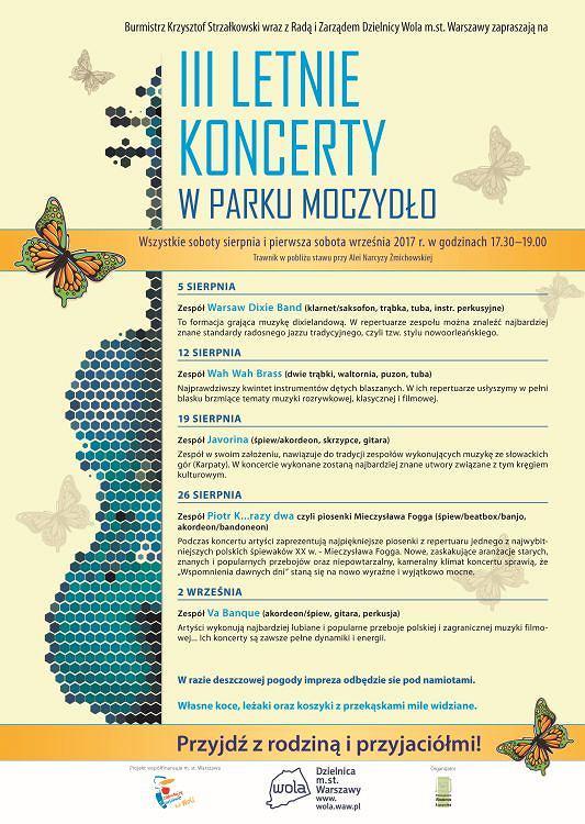 III letnie koncerty w parku Moczydło