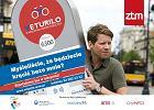 Plakat promuj�cy warszawski system wypo�yczalni rower�w Veturilo