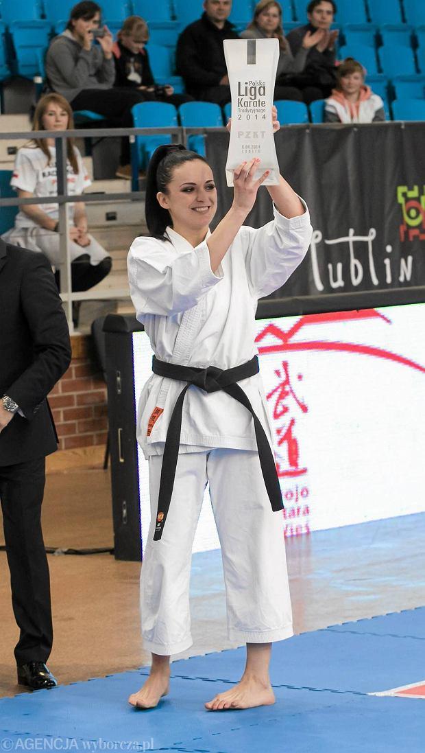 Lublin 21014. Fina� Polskiej Ligi Karate: Zwyci�czyni imprezy Justyna Marciniak