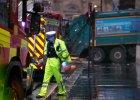 Glasgow: �mieciarka wjecha�a w pieszych na chodniku. Sze�� os�b nie �yje, s� ranni. Policja: To wypadek