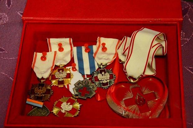 Medale Andrzeja Lisa, rekordzisty Polski w oddawaniu krwi