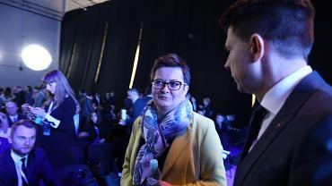 25.11.2017, Katarzyna Lubnauer i Ryszard Petru przed konwencją krajową Nowoczesnej.