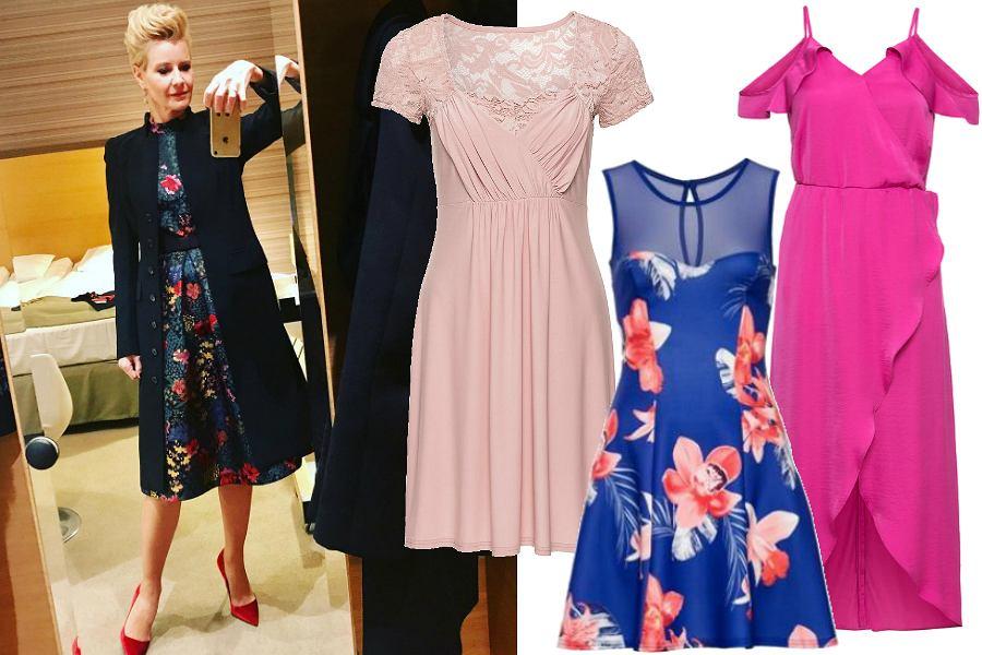 cbe9cb7d29 Niedrogie sukienki na wesele i inne imprezy. Kwiecisty model w stylu ...