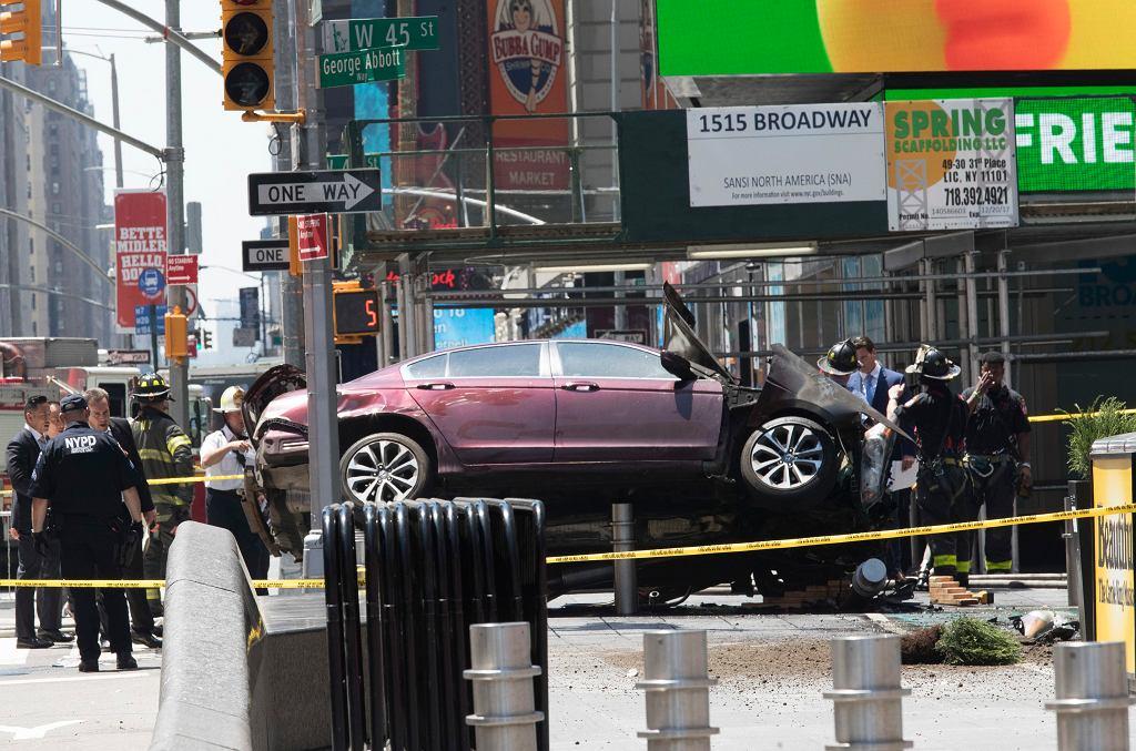 Samochód wjechał w pieszych w Nowym Jorku