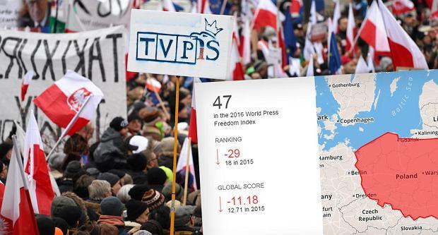 Polska spada w rankingu wolności mediów