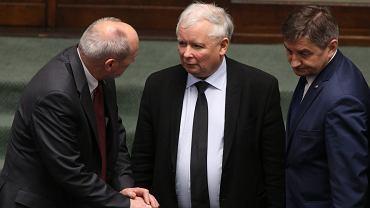 Antoni Macierewicz, Jarosław Kaczyński i Marek Kuchciński