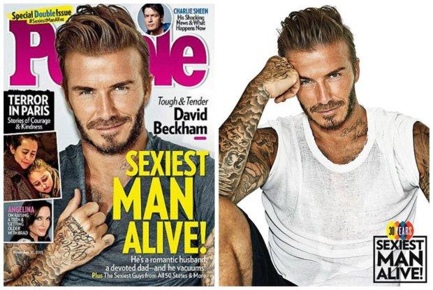"""40-letni David Beckham najseksowniejszym m�czyzn� na �wiecie wed�ug magazynu """"People"""": My�la�em, �e jestem na to za stary..."""