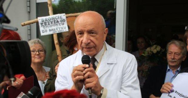 Chazan ws. by�ej pacjentki: Moje post�powanie by�o uzasadnionym obywatelskim niepos�usze�stwem