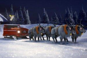 Mercedes pozwala skonfigurować... sanie Świętego Mikołaja