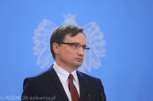 Minister sprawiedliwo�ci Zbigniew Ziobro