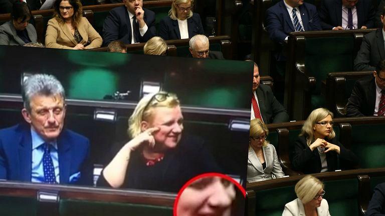 Minister Beata Kempa i Stanisław Piotrowicz na posiedzeniu Sejmu