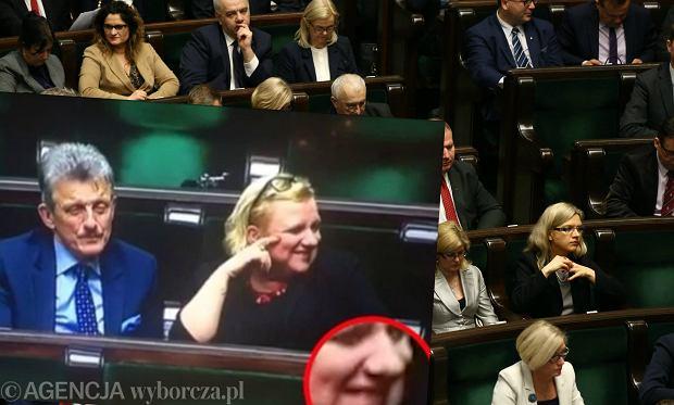 Minister Beata Kempa i Stanis�aw Piotrowicz na posiedzeniu Sejmu