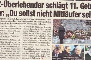 Austriacka gazeta wzywa Polsk�, by przyzna�a si� do udzia�u w Holocau�cie