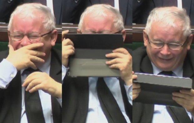 Prezes Kaczy�ski w Sejmie