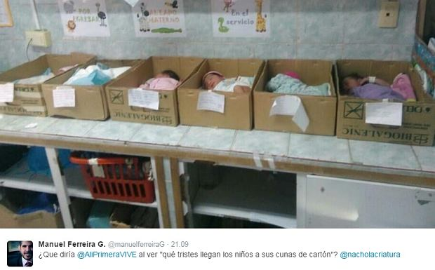 Nie takich warunków spodziewałbyś się na porodówce. W tym szpitalu noworodki układano w... kartonach