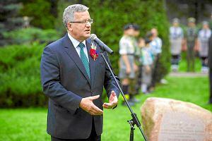 Komorowski chce si� zaanga�owa� w budow� pomnika ofiar