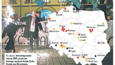 Polska mapa nienawiści. Monitoring od września 2015 roku.
