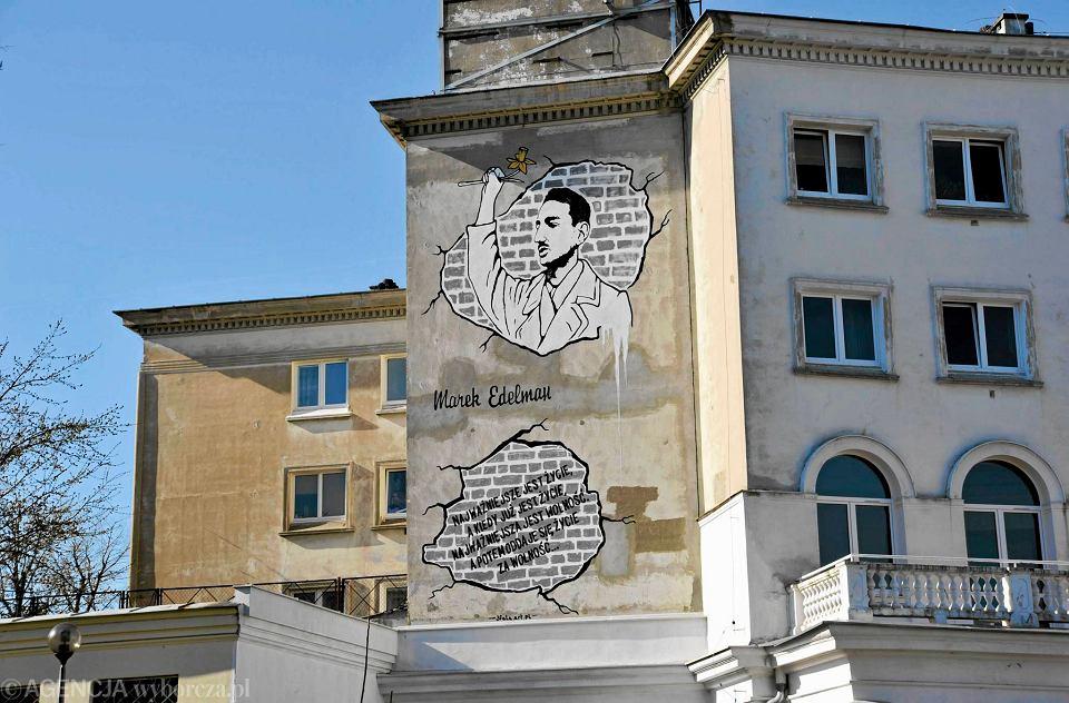 Mural z markiem edelmanem znikn z muranowa posz o o for Mural ursynow