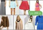 Moda na plisowanie - spódnice i sukienki do 200 zł