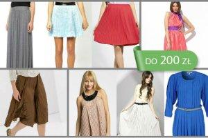 Moda na plisowanie - sp�dnice i sukienki do 200 z�