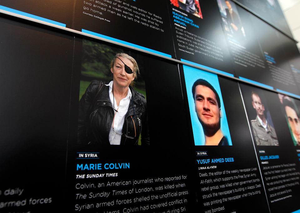 Fotografia Marie Colvin w Newseum