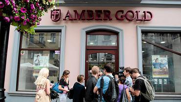 Biuro Amber Gold na ul. Piotrkowskiej w Łodzi, 8.08.2012.